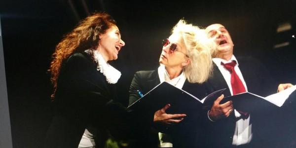 Le médecin malgré lui, mise en scène Daniela Morina Pelaggi. Avec Antonio Gomez, Evelyne Nicollet et Daniela Morina Pelaggi, Théâtre des Grottes, Genève
